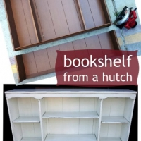 Bookshelf from A Hutch - Before & After
