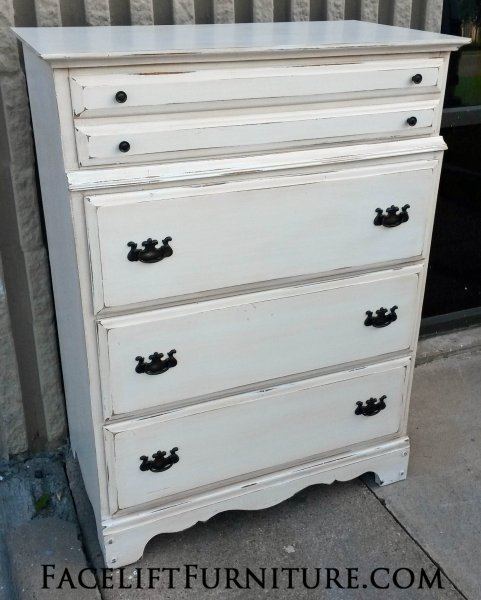 maple chest of drawers in distressed antiqued white with light tobacco glaze from facelift furnitures antique distressed furniture