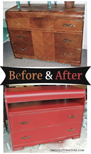 Cabinets before after facelift furniture for Repurposed furniture before and after