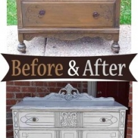 Aspen Gray Art Deco Chest - Before & After