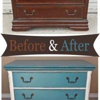 Low Sea Blue Chest - Before & After