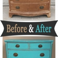 Turquoise Vintage Chest - Before & After