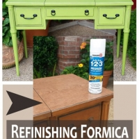 Refinishing Formica Green Vanity