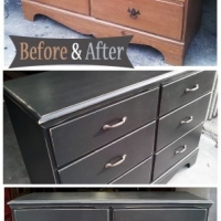 Black Maple Dresser - Before & After