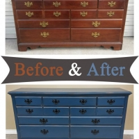 Denim Blue Dresser - Before & After