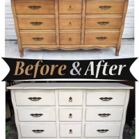 Off White Dresser - Before & After
