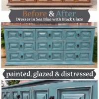 Sea Blue Dresser - Before & After