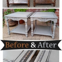 End Tables Aspen Gray - Before & After