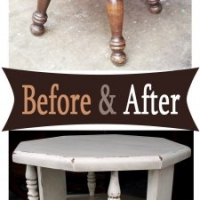 Oct Chunky End Table - Before & After