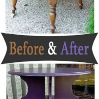 Plum Tiered Table - Before & After