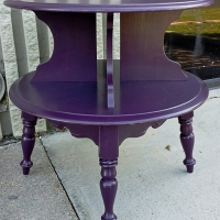 Plum Maple End Table with Black Glaze. From Facelift Furniture's End Tables collection.