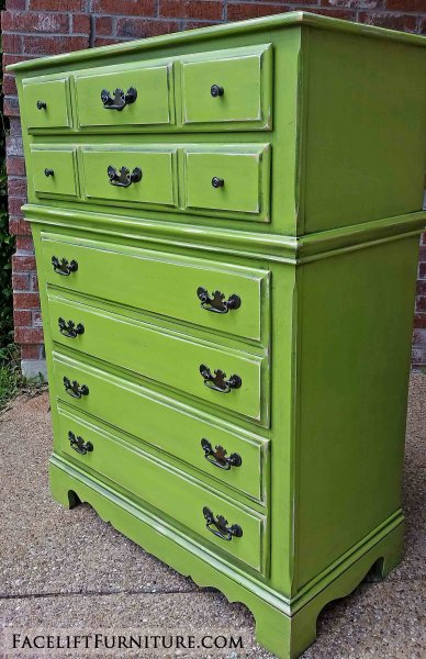 Lime green refinished furniture facelift furniture for Lime green bedroom furniture
