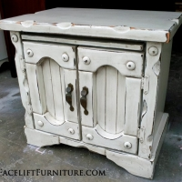 Super Chunky Nightstand in Antqued White with Espresso Glaze. From Facelift Furniture's Nightstands collection.
