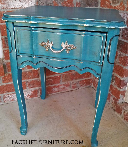 peacock blue furniture. Distressed Peacock Blue Nightstand With Black Glaze. From Facelift Furniture\u0027s Nightstands Collection. Furniture