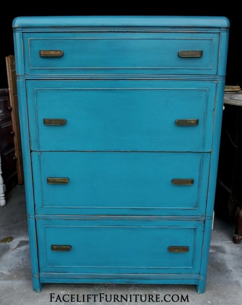 peacock blue furniture. Waterfall-chest-peacock-blue-facelift-furniture.jpg Peacock Blue Furniture .