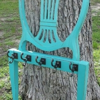 Turquise Chair Back Coat Rack