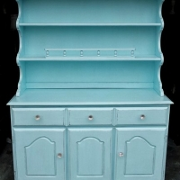Maple Hutch in Robin's Egg Blue. From Facelift Furniture's Robin's Egg Blue Furniture collection.