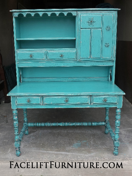 Turquoise Refinished Furniture Facelift Furniture