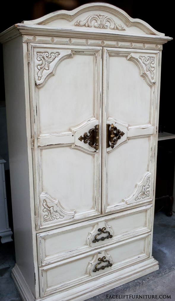 off white chunky clothing armoire before after. Black Bedroom Furniture Sets. Home Design Ideas