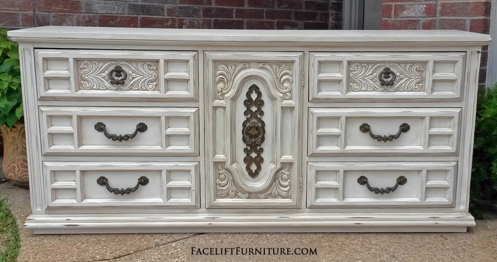 Ornate Vintage Dresser in Distressed Off White Facelift  : Off White Ornate Dresser 1024x541 from www.faceliftfurniture.com size 1024 x 541 jpeg 164kB