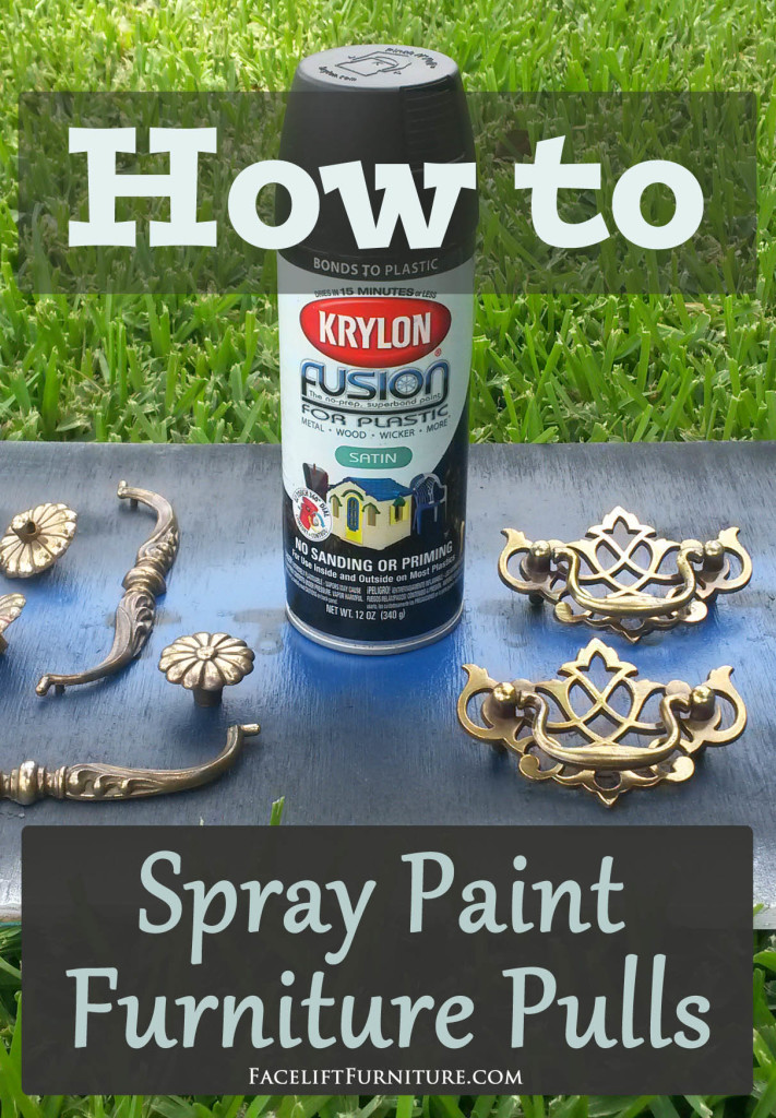 How To Spray Paint Furniture Pulls Facelift Furniture
