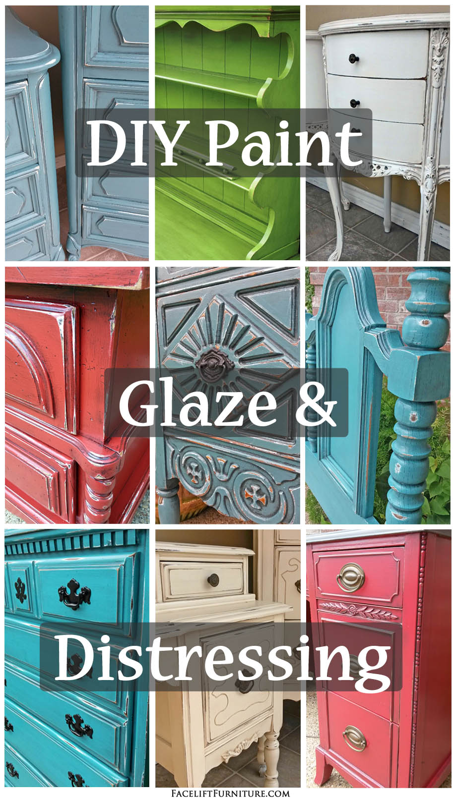 DIY Paint, Glaze & Distressing - Facelift Furniture