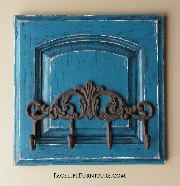 Repurposed Cabinet Doors Painted Glazed Distressed Facelift
