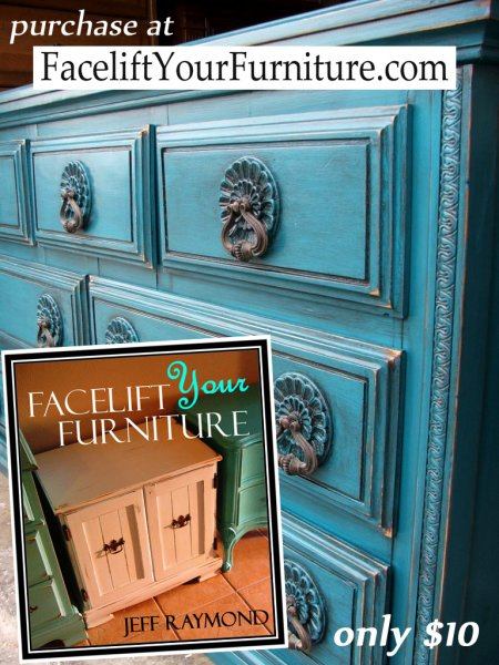 """Create this look on your furniture with our DIY eBook """"Facelift Your Furniture"""".  Only $10 & available for immediate download at www.faceliftyourfurniture.com"""