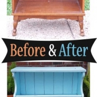 Robins Egg Maple Shelf - Before & Aftetr