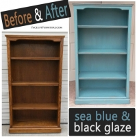 Sea Blue Shelf - Before & After