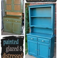 Peacock Blue Hutch - Before & After