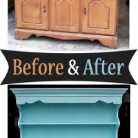 Robin's Egg Blue Hutch - Before & After