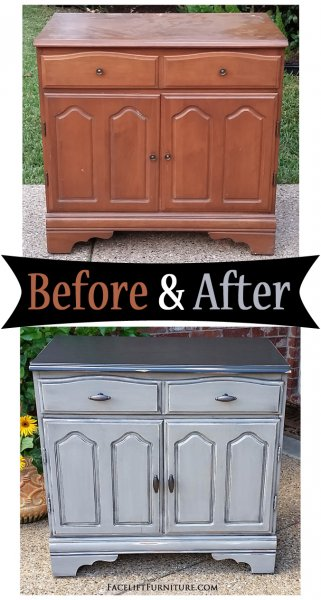 Aspen Grey Maple Cabinet - Before & After