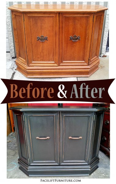 Black Entry Piece - Before & After