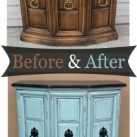 Robins Egg Blue Console - Before & After