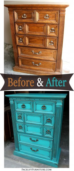 Turqouise Chest- Before & After