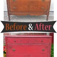 BarnRedArtDecoDresser-Before&After