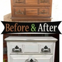 Off White Vintage Chest - Before & After