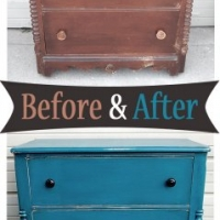 Peacock Blue Chest Before & After