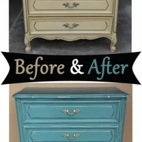 Sea Blue French Chest - Before & After