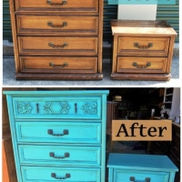 Turquoise Chest & NS - Before & After