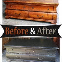 Black Coffee Table - Before & After