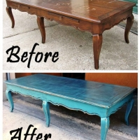 SeaBlueCurvyCoffeeTable-Before&After