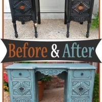 SeaBlue Vanity Before & After