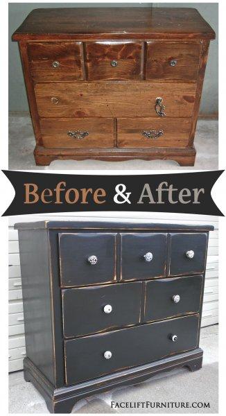 Black Dresser - Before & After