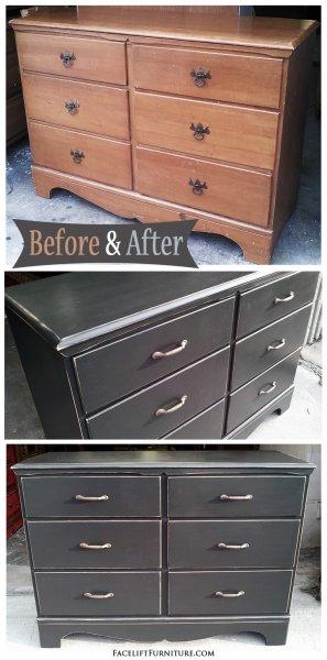 Black Maple Dresser - Before & After