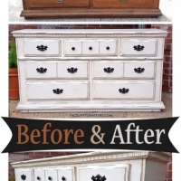 Dresser Off White - Before & After