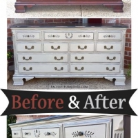 Dresser in Black & Aspen Gray - Before & After