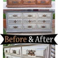 Retro Dresser Aspen Gray - Before & After