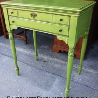 Lime Green Antique Sewing Table. From Facelift Furniture's End Tables collection.